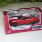 """Kinsmart (5"""") Die cast  Model Car 2015 Ford Mustang GT 5.0 Red (1-38) White Stripe"""