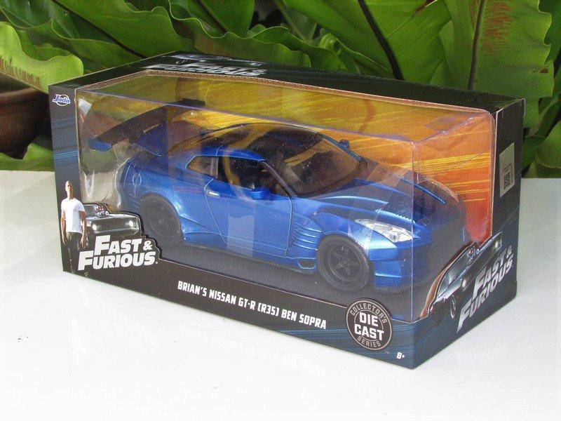 Jada 1/24 Fast & Furious  Brian's Nissan GTR (R35) Ben Sopra  # 98271