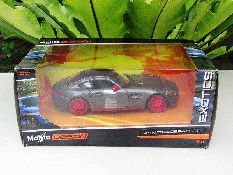 Maisto 1/24 Design Diecast Car EXOTICS Mercedes Benz AMG GT Matte Grey (32505)