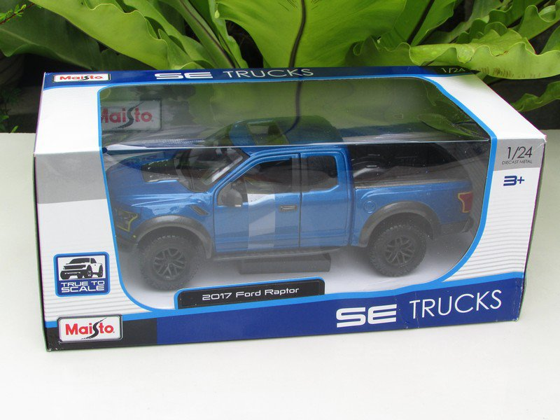 Maisto 1/24 Diecast Car Special Edition(2017) Ford F150 Raptor Pickup (Blue)