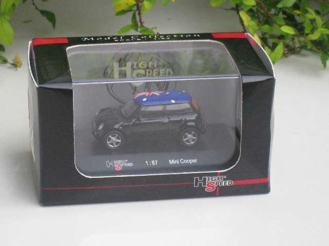 High Speed 1/87 Mini Cooper  Black (AUSTRIA Flag)