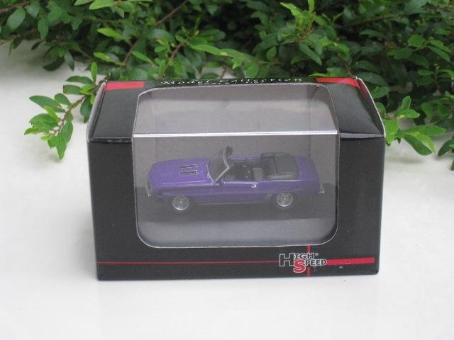High Speed 1/87 Diecast Model Car  Camaro SS396 1969  (Purple) Classics Car 5cm