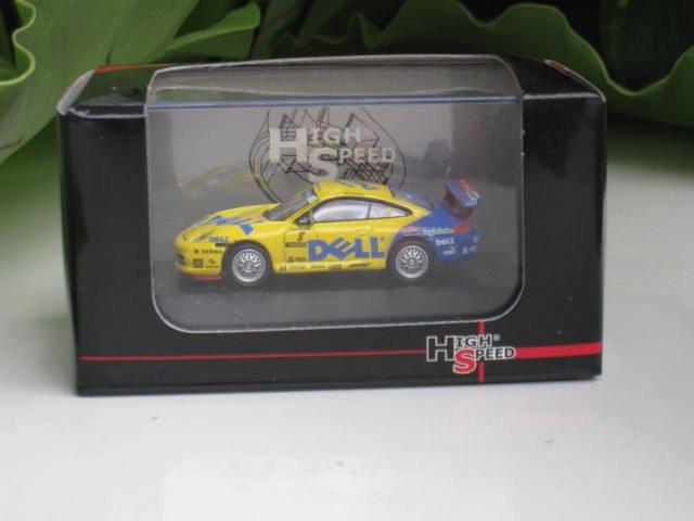 High Speed 1/87 Diecast Car Porsche 911 GT3 (996) Carrera Cup 2005 DELL #8 Werner