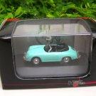 High Speed 1/87 Diecast Model Car Porsche 356B 1959 Cabrio Light Green Classic Car