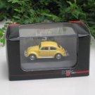 High Speed 1/87 Diecast Model Car VW Volkswagen Kafer Beetle Yellow Classics Car (5cm)