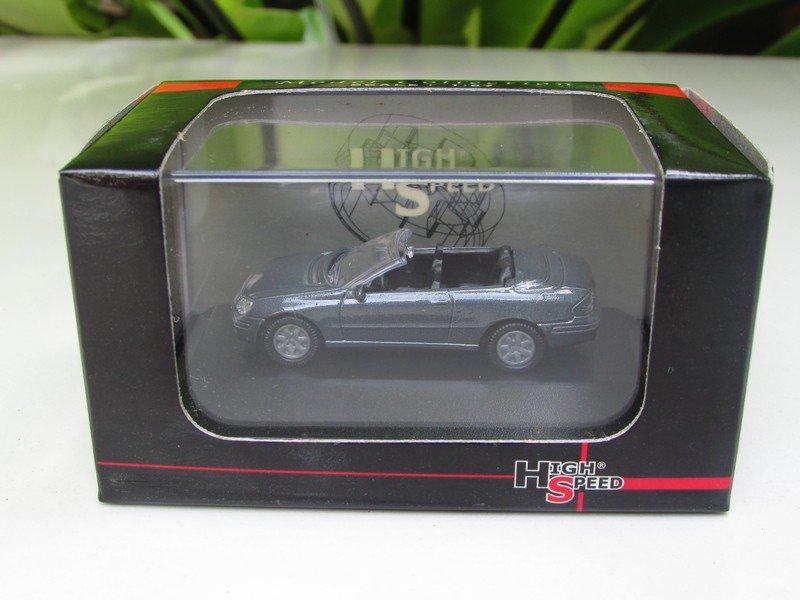 High Speed 1/87 Diecast Car Mercedes Benz CLK Cabriolet (Grey) 5cm