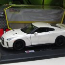 Bburago 1/24 Diecast Car Model Star Collezione Series 2017 Nissan GT- R (White)