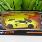 Maisto 1/24 Design Diecast Car EXOTICS Lamborghini Aventador LP700-4 (Yellow)