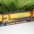 Welly 1-64  Die Cast Model SCANIA V8 R730 (4x2) Trailer Trucks ECO OIL Tanker Yellow (24cm)