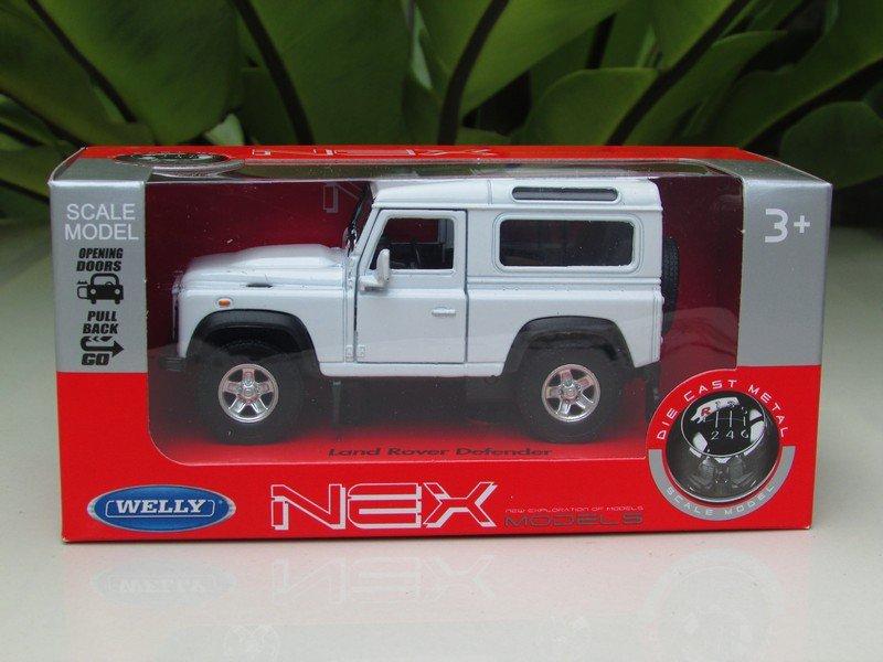 Welly 1/34-1/39 Die cast Car Land Rover Defender White (11cm)