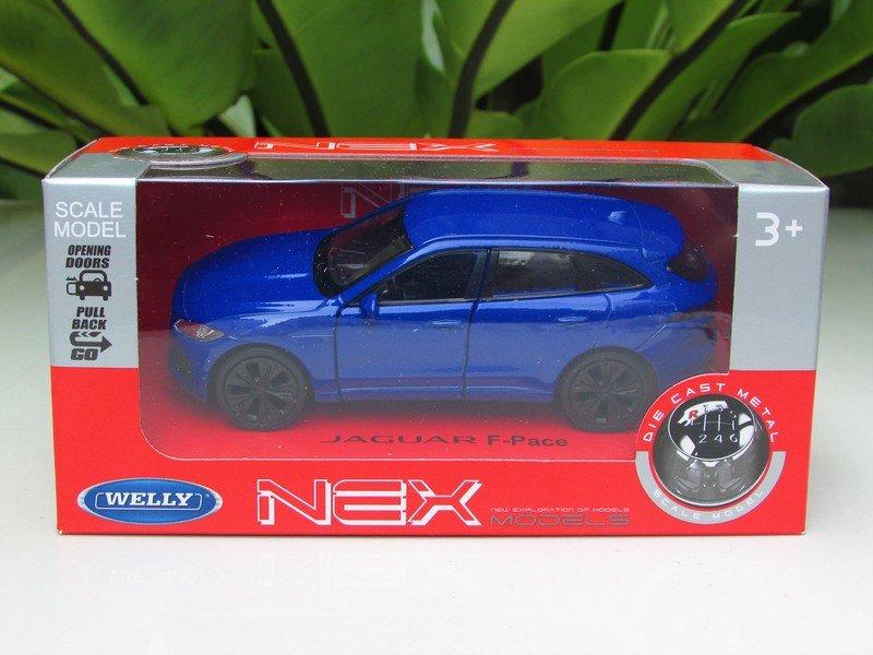 Welly NEX 1/34-1/39 (11cm) Die cast 2016 Jaguar F- Pace  Blue
