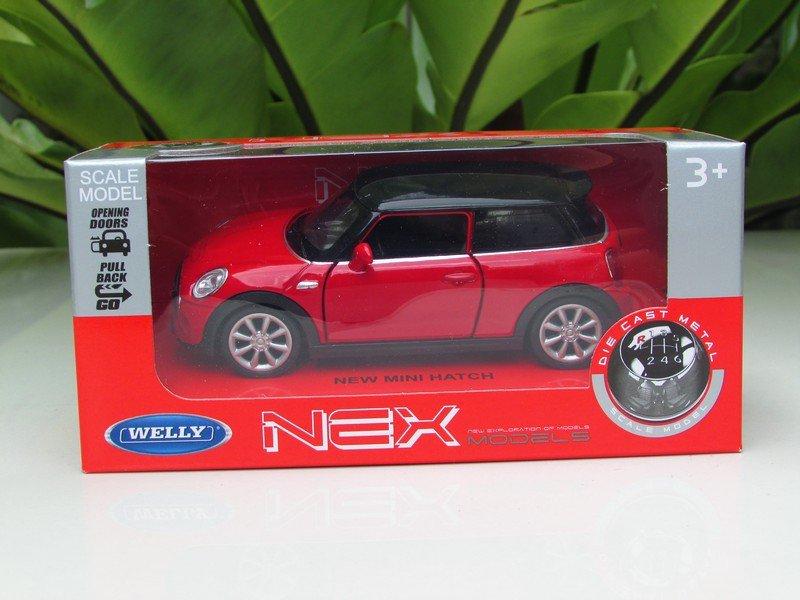 Welly NEX 1-38 (11cm) Die cast 2015 New Mini Cooper Hatch 2-Door RED