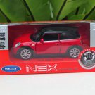 Welly NEX 1-38 (11cm) Die cast 2015 New Mini Cooper Hatch 2-Door RED