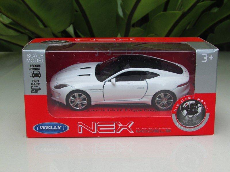 Welly NEX 1/34-1/39 (11cm) Die cast 2016 Jaguar F- Type Coupe White Sport Car