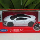 Welly NEX 1/34-1/39 (11cm) Die cast 2015 Honda NSX White Sport Car
