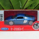 Welly NEX 1-38 (11cm) Die cast 2016 Audi R8 V10 Blue Sport Car