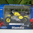 Welly 1/18 Diecast Motorcycle Honda Monkey Bike Yellow