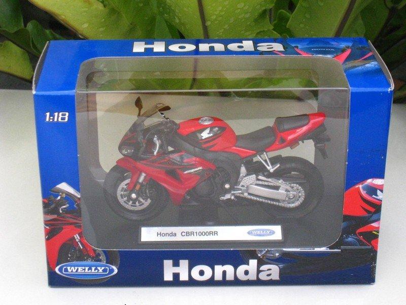 Welly 1/18 Diecast Motorcycle 2009 Honda CBR1000RR Fireblade Red