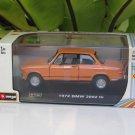 Bburago 1/32 Diecast Model Car 1972 BMW 2002 tii Coupe Classic Car (Orange)