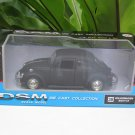 "RMZ / DSM 5"" Die cast Model #38 Volkswagen VW Beetle Matt Black Classics Car"