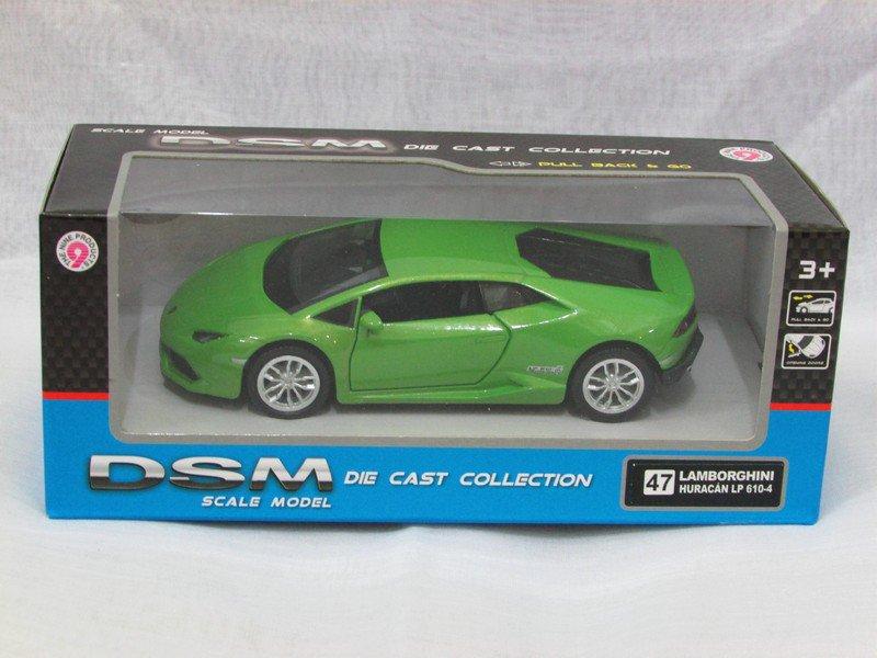 RMZ / DSM 5'' Die cast Model #47 Lamborghini Huracan LP 610-4 Green Sports Car