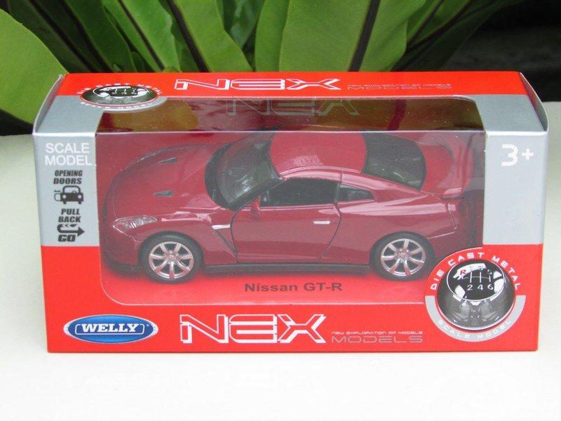 Welly NEX 1/34-1/39 (11cm) Die cast Nissan GT-R 35 Red 2009 Sport Car