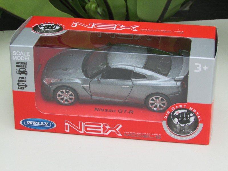 Welly NEX 1/34-1/39 (11cm) Die cast Nissan GT-R 35 Grey  2009 Sport Car