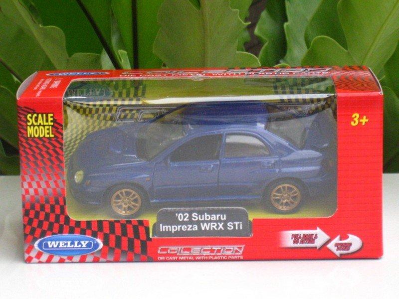 Welly 1/34-1/39 Die cast Car Subaru Impreza WRX STI 2002 BLUE (11cm)
