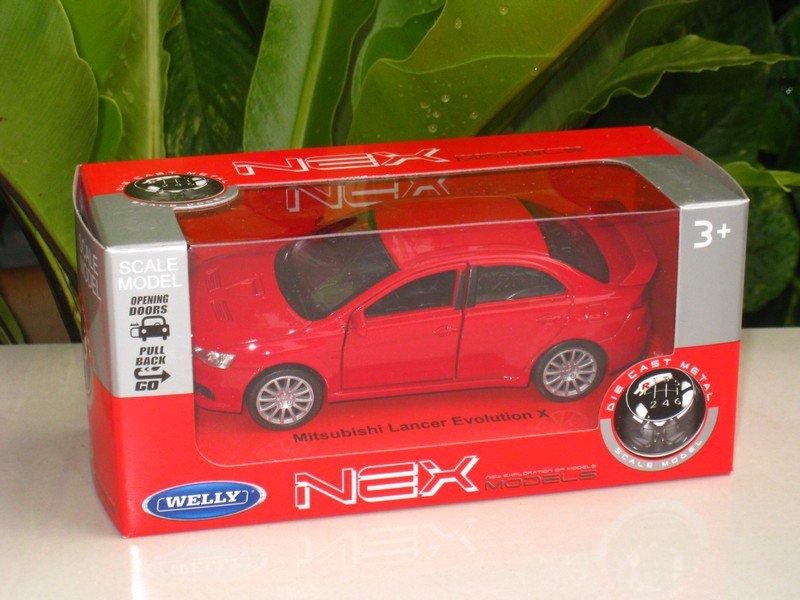 Welly NEX (11cm) 1/34-1/39 Die cast Car Mitsubishi Lancer Evolution EVO X (RED)