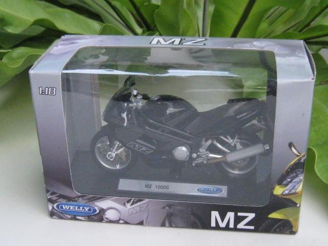 Welly 1/18 Diecast Motorcycle MZ 1000S (2005) sportbike Black