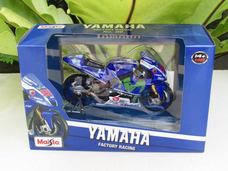 Maisto 1/18 MOTOGP 2016 Yamaha YZR M1 MOVISTAR #99 Jorge Lorenzo (#31590)