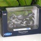 Welly 1/18 Diecast Motorcycle Triumph Daytona 675 Grey 2006 Sportbike