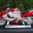Welly 1/18 Diecast Motorcycle Yamaha YZF 1000R Thunderace 2001 (RED)