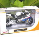 Maisto 1/12 Diecast Motorcycle 2010 BMW S1000RR (White/Blue) Superbike
