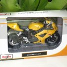 Maisto 1/12 Diecast Motorcycle 2006 SUZUKI GSX - R600 (Yellow)