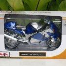 Maisto 1/12 Diecast Motorcycle 2010 SUZUKI GSX 1300R Hayabusa (BLUE)