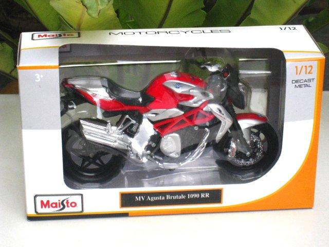 Maisto 1/12 Diecast Motorcycle 2012 MV Agusta Brutale 1090 RR (RED)