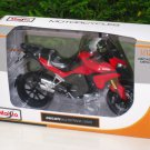 Maisto 1/12 Diecast Motorcycle DUCATI MULTISTRADA 1200S (2011) Red Touring Bike