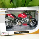 Maisto 1/12 Diecast Motorcycle Ducati Mod Streetfighter S (RED)