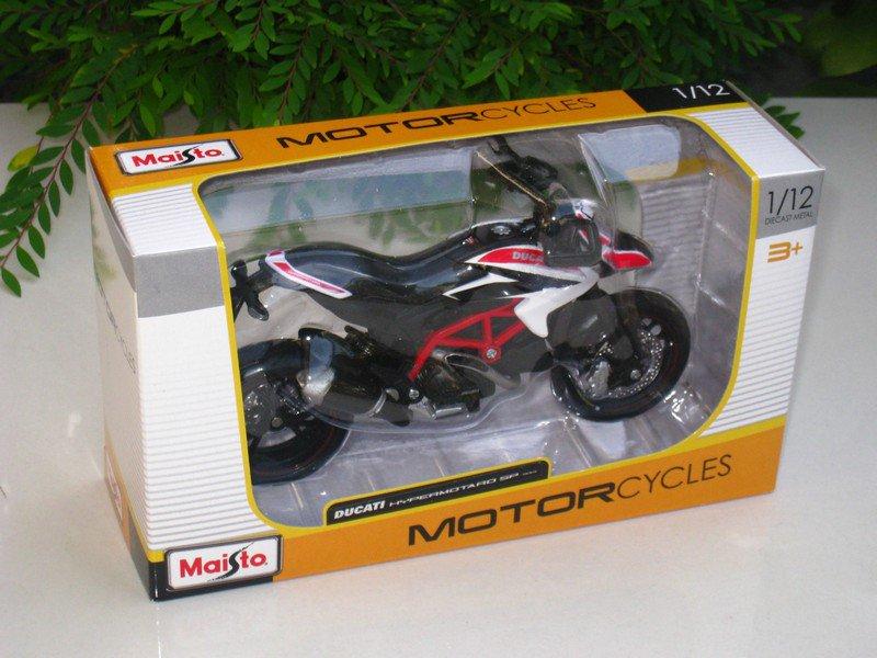 Maisto 1/12 Diecast Motorcycle Ducati Hypermotard SP 2013 Black/RED