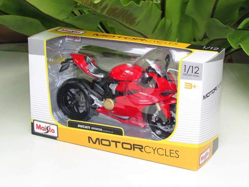 Maisto 1/12 Diecast Motorcycle 2012 Ducati 1199 Panigale (RED) Superbike
