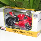 Maisto 1/12 Diecast Motorcycle 2012 Ducati 1199 Panigale (RED) Superbike