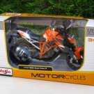 Maisto 1/12 Diecast Motorcycle 2014 KTM 1290 Super Duke R Orange