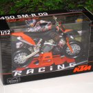 Automaxx 1/12 Diecast Motorcycle KTM 450 SMR 2009 Motocross (Orange)
