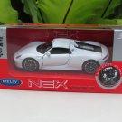 Welly NEX (11cm) 1/34-1/39 Die cast Car Porsche 918 Spyder (White) Sports Car