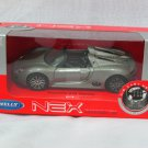 Welly NEX (11cm) 1/34-1/39 Die cast Car Porsche 918 Spyder Gray Cabrio Car