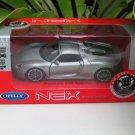 Welly NEX (11cm) 1/34-1/39 Die cast Car Porsche 918 Spyder Gray  Hardtop