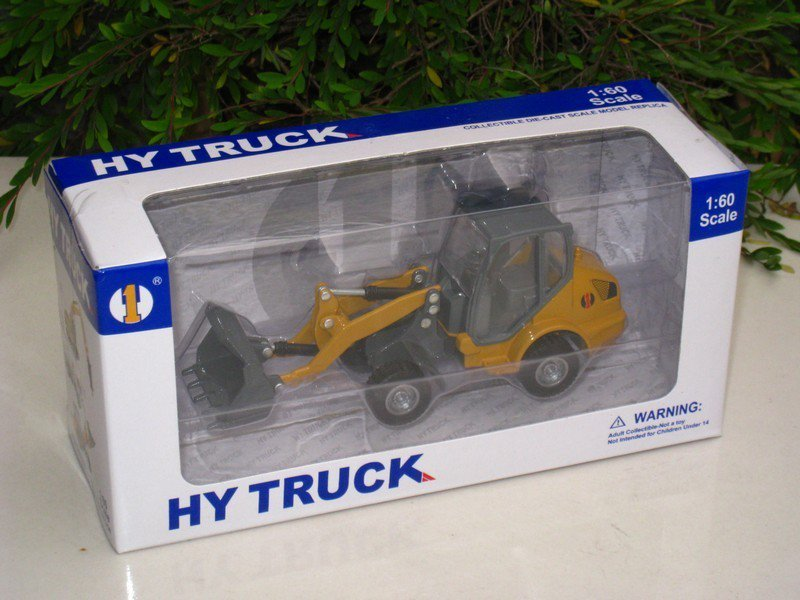 HY Truck 1/60 Diecast Construction Vehicle Wheel Loader Yellow (13cm)