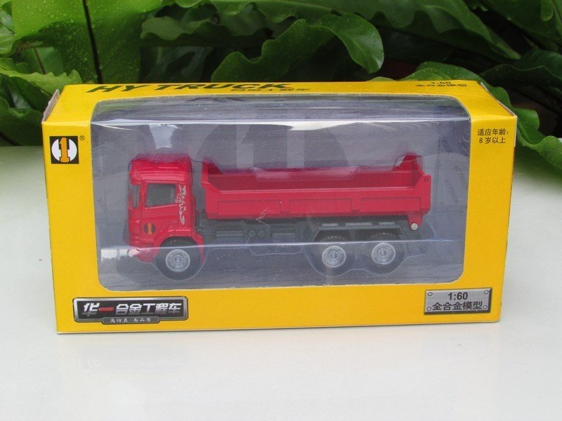 HY Truck 1/60 Die cast Construction Vehicle Tipper Truck RED (13cm)