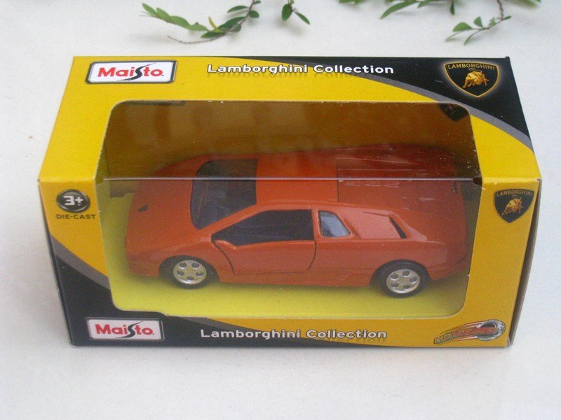 Maisto Motorized (11cm) Diec ast Car Lamborghini Diablo (Orange)